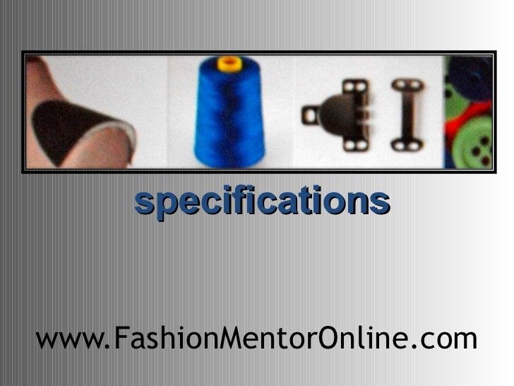 www.FashionMentorOnline.com specifications