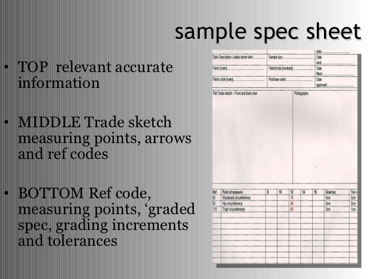 How To Develop Product Specifications For Fashion Design