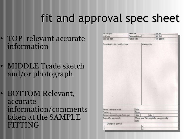 How To Develop Product Specifications For Fashion Design.