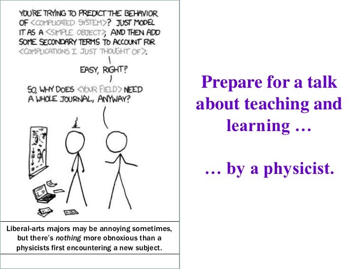 Prepare for a talk                                                  about teaching and                                    ...