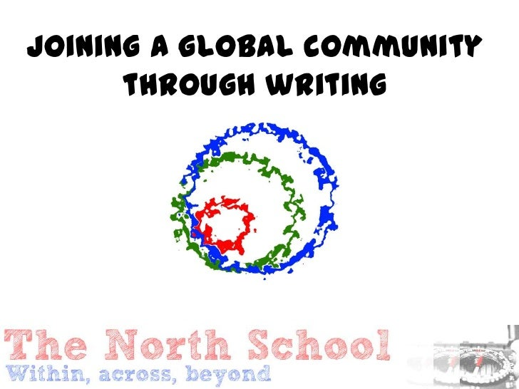 Joining a global community      through writing