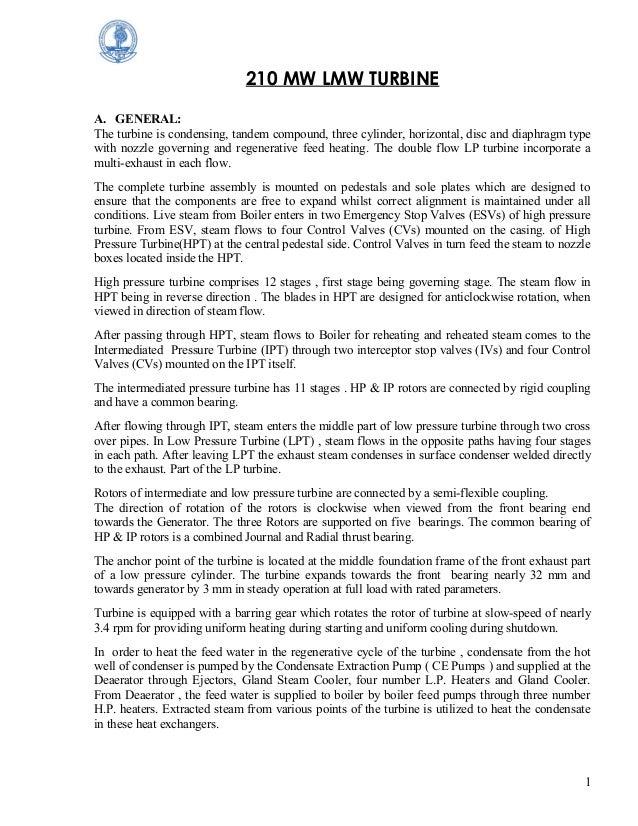 bhel 210mw turbine operation manual