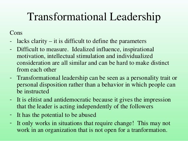 transformational leadership advantages Distributive leadership fits more advantages and disadvantages of distributive leadership definition of distributive leadership the advantages are.