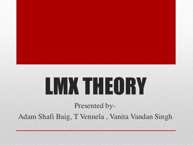 LMX THEORY  Presented by-  Adam Shafi Baig, T Vennela , Vanita Vandan Singh