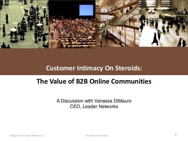 L E A D E R NETWORKSCopyright © 2011 Leader Networks, LLC Proprietary & Confidential 1Customer Intimacy On Steroids:The Va...
