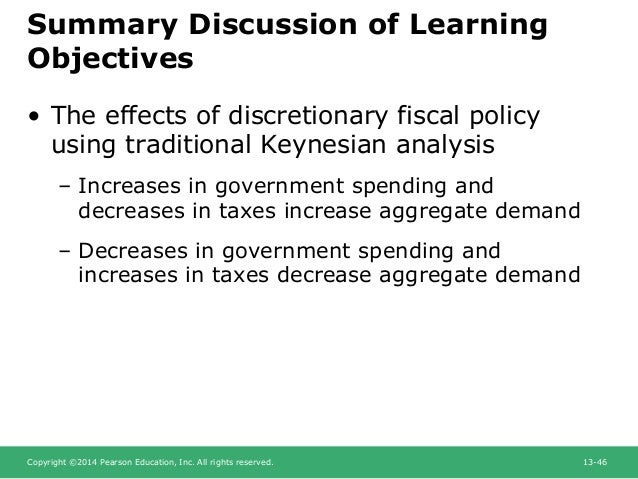 Discretionary Fiscal Policy and Automatic Stabilizers