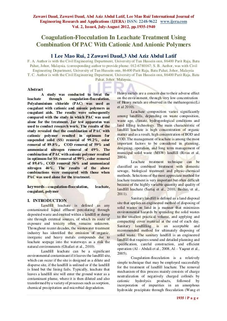 Zawawi Daud, Zawawi Daud, Abd Aziz Abdul Latif, Lee Mao Rui/ International Journal of      Engineering Research and Applic...