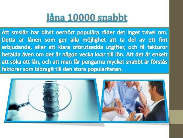 Låna pengar - från 10000 till 1000000 kr.