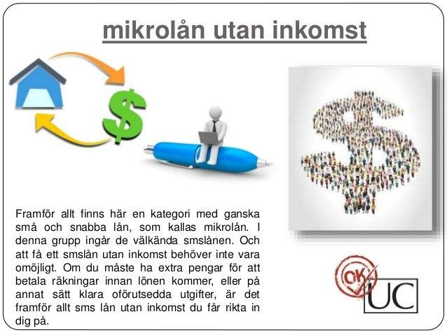 ta lån utan fast inkomst
