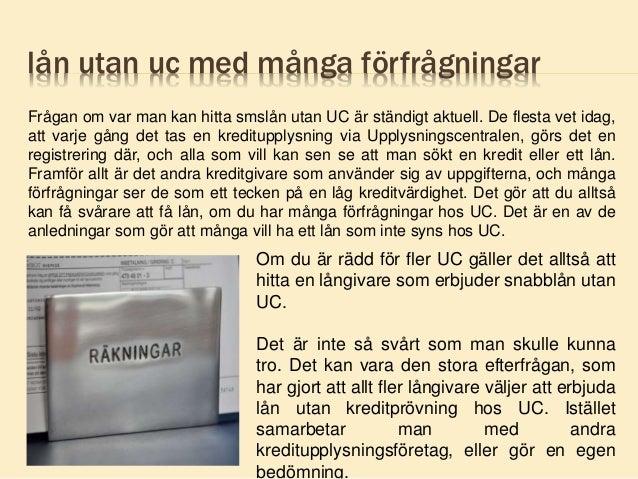 Lån utan UC
