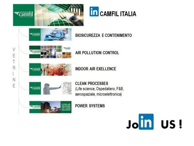 m CAMFIL ITALIA     V BIOSICUREZZA E CONTENIMENTO  -nnlglu m,  'Wîfliîflìfi' AIR POLLUTION CONTROL  -nulrlua. t  INDOOR AIR E...