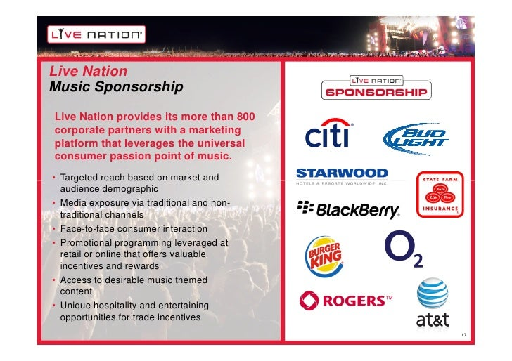 live nation profile Michael rapino, ceo of the clear channel spinoff live nation, may just have this whole file-sharing, itunes-listening, myspace-internet-era music thing all figured out.