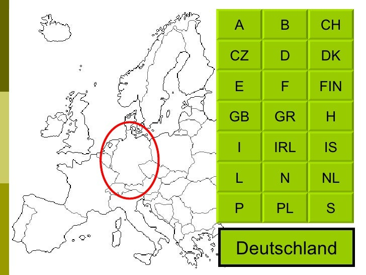 Deutschland CH B DK D FIN F H GR IS IRL NL N S PL A CZ E GB I L P