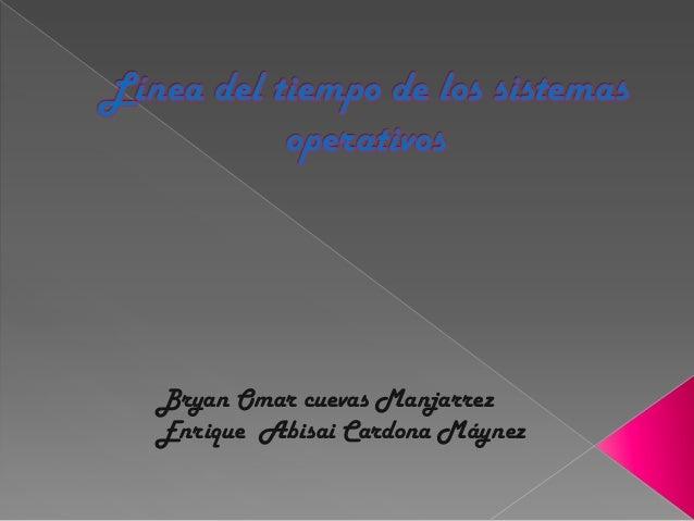 Bryan Omar cuevas ManjarrezEnrique Abisai Cardona Máynez