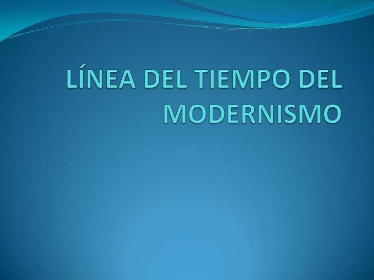 L nea del tiempo del modernismo - Tiempo en paracuellos del jarama ...