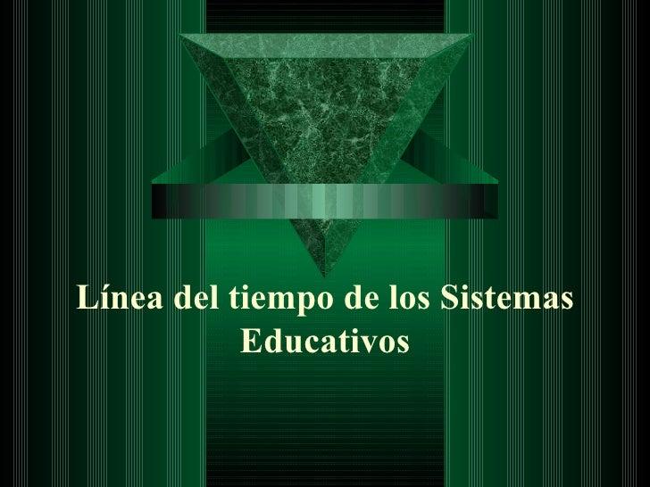 Línea del tiempo de los Sistemas Educativos