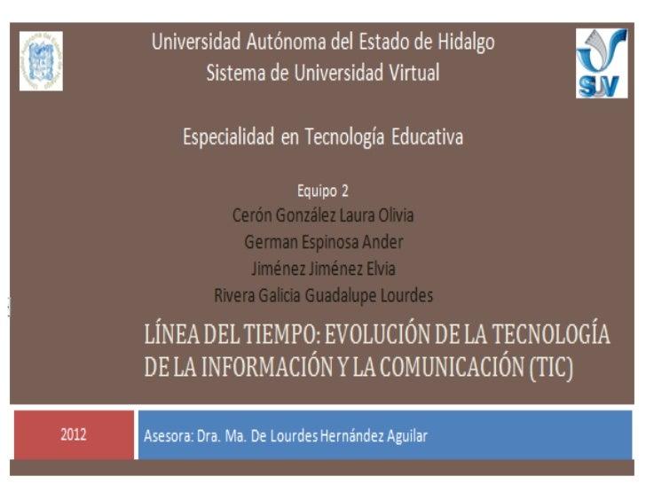 """""""Evolución de la Tecnología de la Información y la                    Comunicación (TIC)""""Los cambios que ha vivido la huma..."""