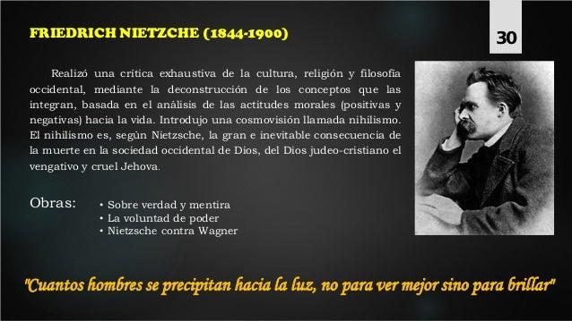 Realizó una crítica exhaustiva de la cultura, religión y filosofía occidental, mediante la deconstrucción de los conceptos...