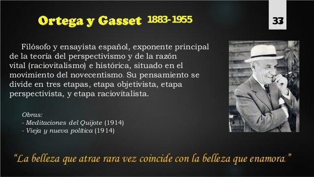 371883-1955 Filósofo y ensayista español, exponente principal de la teoría del perspectivismo y de la razón vital (raciovi...