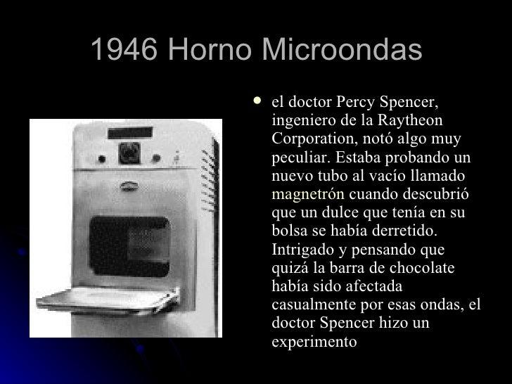 inventos tecnologicos horno microondas