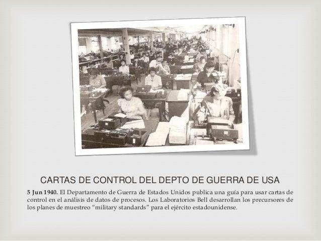 Joseph Juran04/08/1941 Descubrió la obra de VilfredoPareto. Juran amplió la aplicación delprincipio de Pareto a cuestiones...