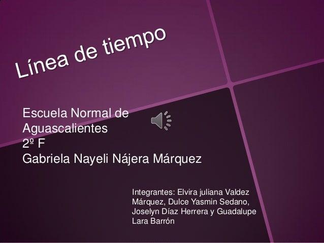 Escuela Normal deAguascalientes2º FGabriela Nayeli Nájera Márquez                  Integrantes: Elvira juliana Valdez     ...