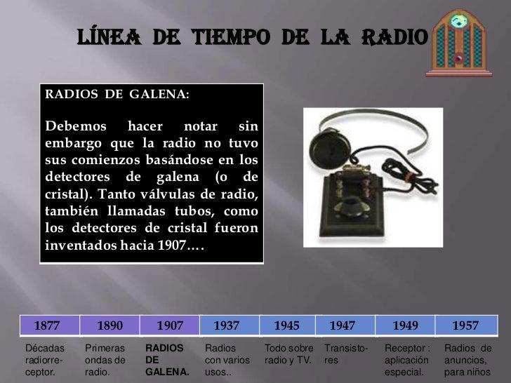 L nea de tiempo del radio - El tiempo en l arboc ...