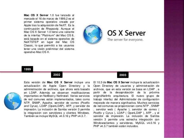 Línea de tiempo MAC-OS SERVER