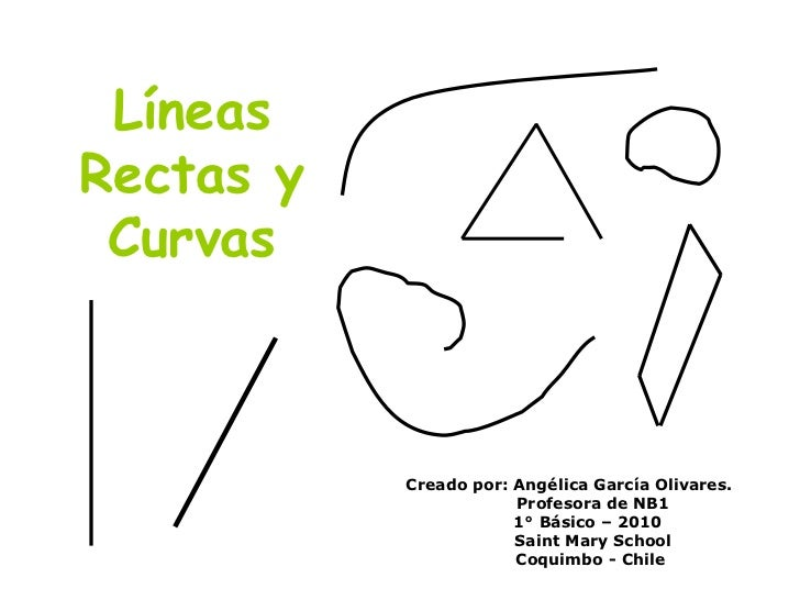Líneas Rectas y Curvas Creado por: Angélica García Olivares. Profesora de NB1 1° Básico – 2010 Saint Mary School Coquimbo ...