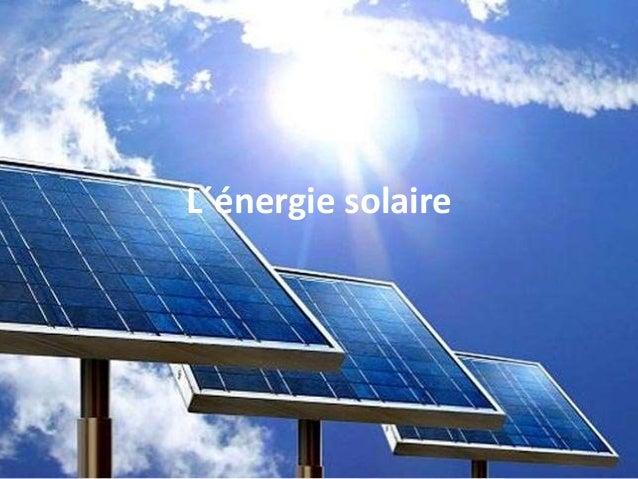 L´énergie solaire