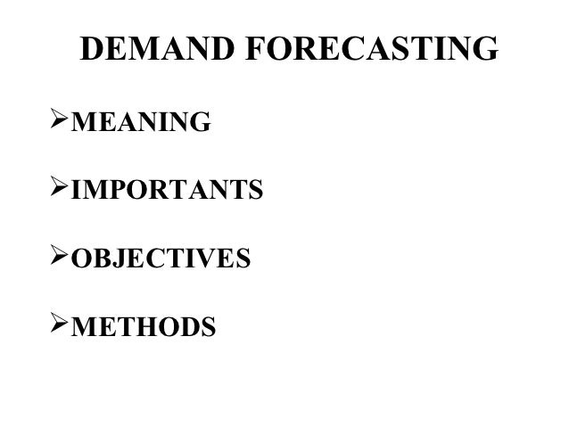 Demand Forecasting Pdf