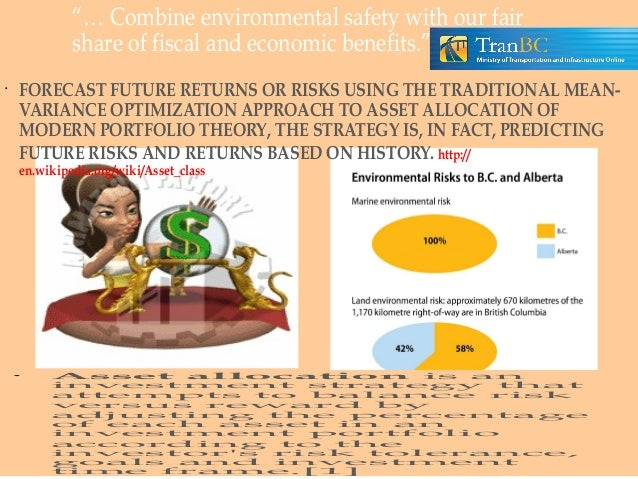 """… Combine environmental safety with our fair share of fiscal and economic benefits."" •  FORECAST FUTURE RETURNS OR RISKS ..."