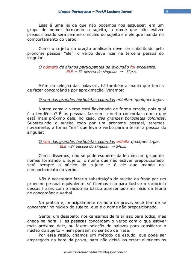 Língua Portuguesa Artigo 4 Concordancia Basica