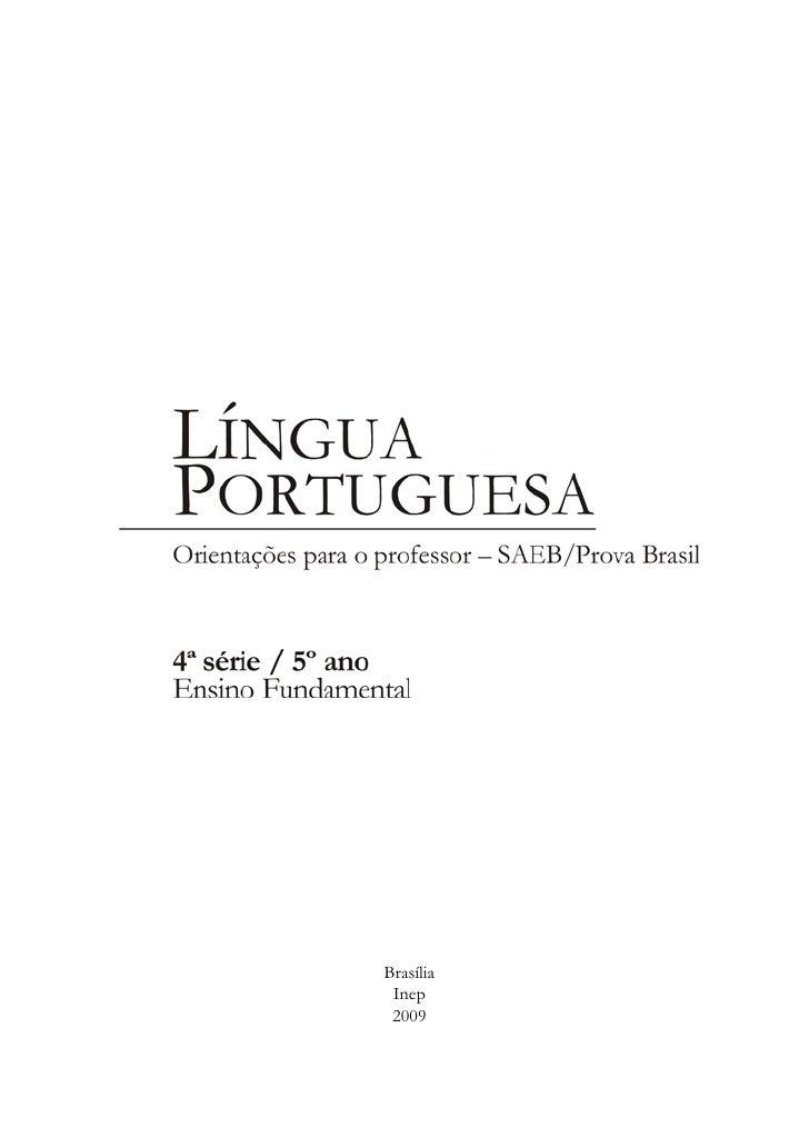 LINGUA PORTUGUESA- DESCRITORES Slide 3