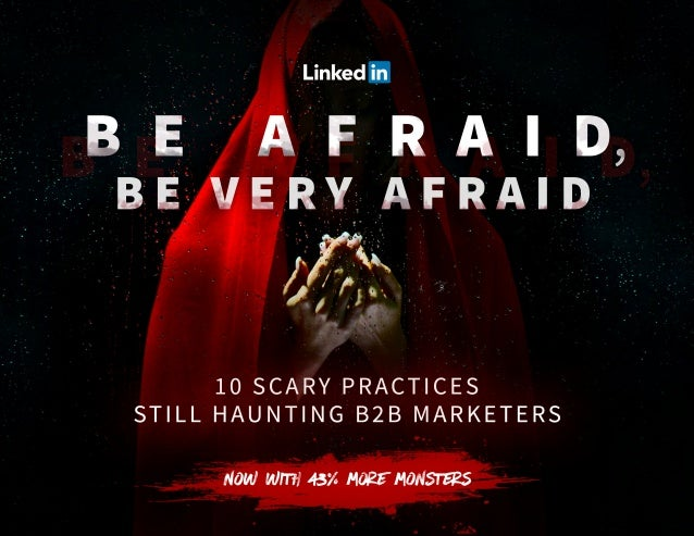 Darkness falls across the land The midnight hour is close at hand Marketing practices up to no good Will frightenize y'all...