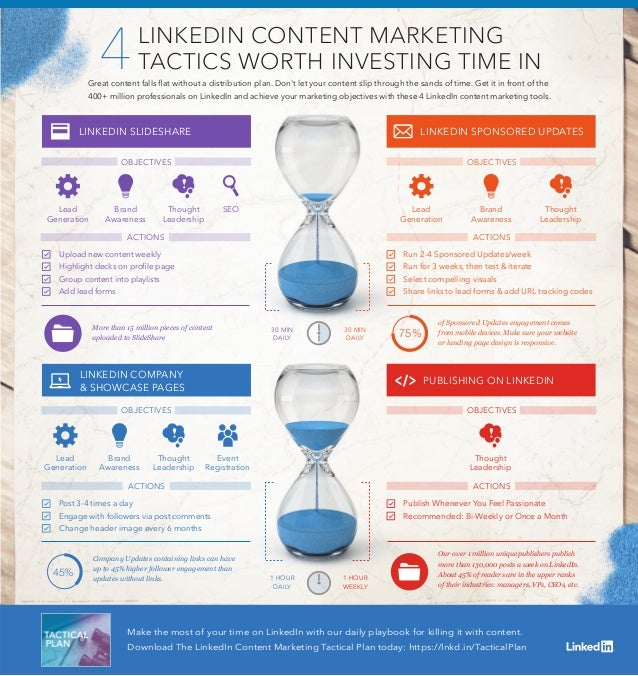 Make the most of your time on LinkedIn with our daily playbook for killing it with content. Download The LinkedIn Content ...