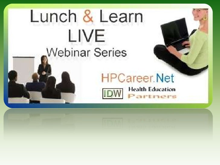 Welcome to<br />Lunch & Learn<br />Health Promotion LIVE<br />