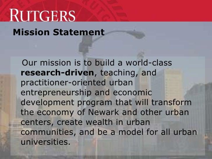 """""""Urban Entrepreneurship & Economic Development"""" Presentation for Leadership Newark and Leadership New Jersey Slide 3"""