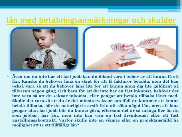 lån med betalningsanmarkningar och skulder