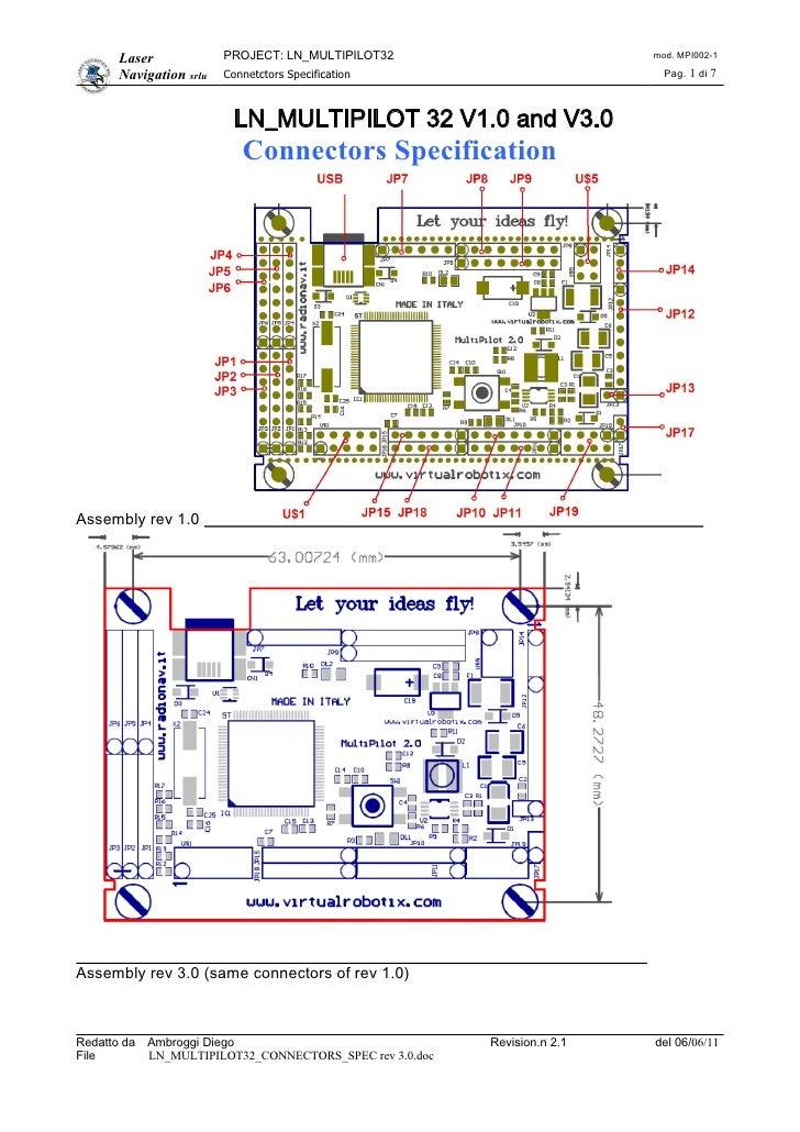 Laser             PROJECT: LN_MULTIPILOT32                           mod. MPI002-1       Navigation srlu   Connetctors Spe...