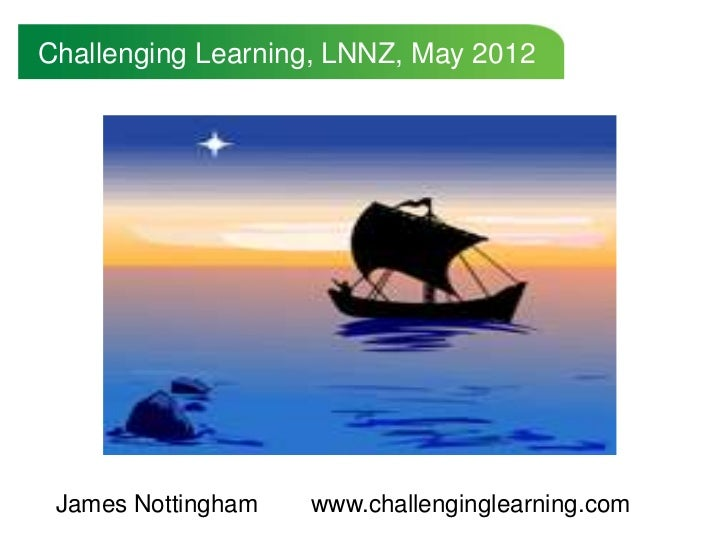 Challenging Learning, LNNZ, May 2012 James Nottingham   www.challenginglearning.com