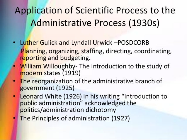 Evolution of public administration essay