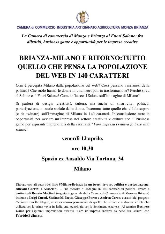 La Camera di commercio di Monza e Brianza al Fuori Salone: fra      dibattiti, business game e opportunità per le imprese ...