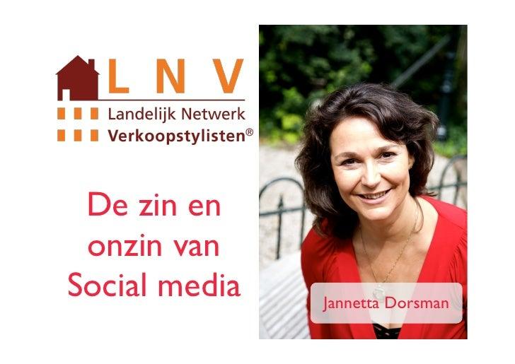 De zin en onzin vanSocial media   Jannetta Dorsman