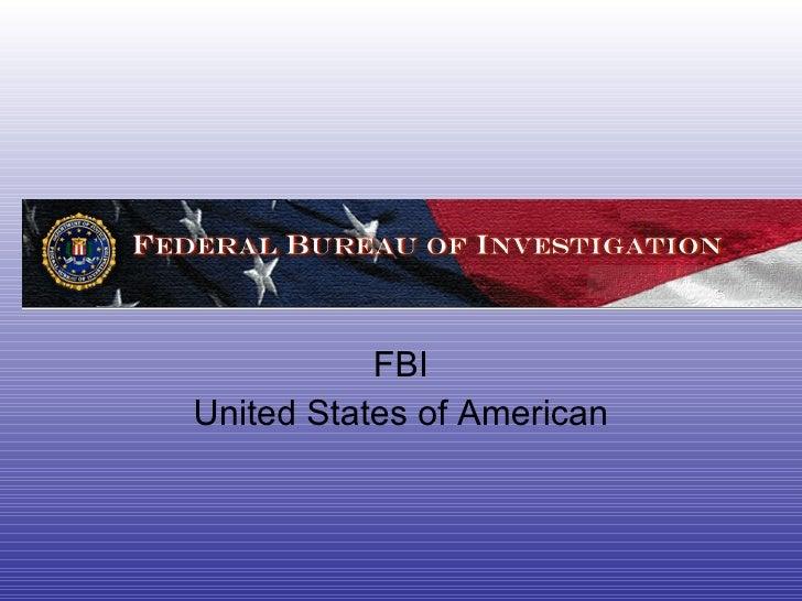 FBI United States of American