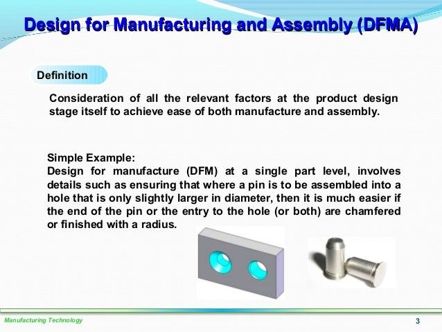 Design For Manufacturing And Assembly : Lo design factors in manufacturing processes sept
