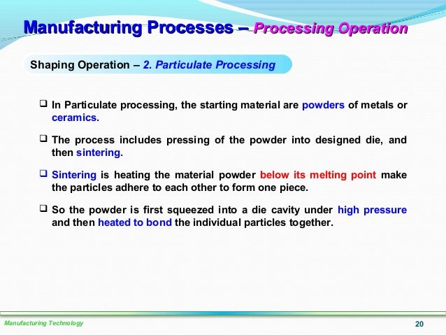 Lo 2 Manufacturing Process Primary Secondary Part 1