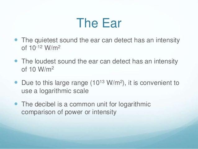 Lo4 the decibel scale - Conversion ca en m2 ...