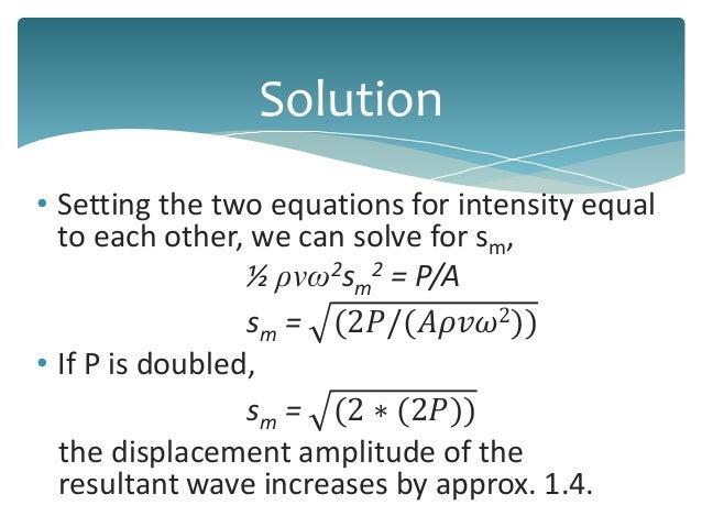 Sound Wave Unit Of Intensity