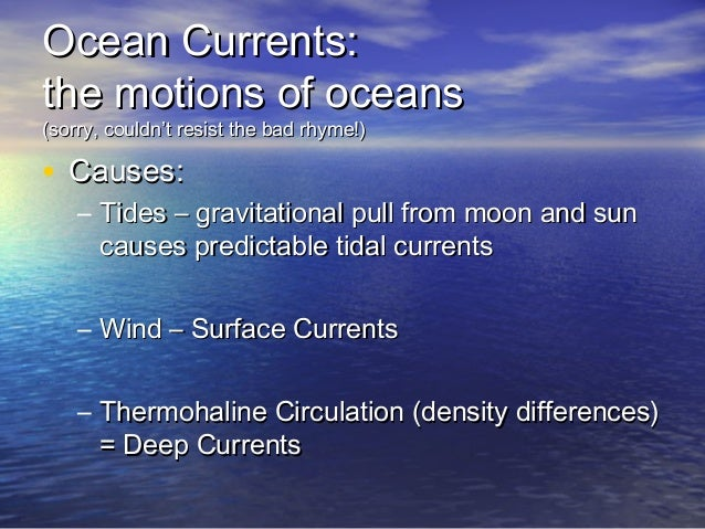 what causes deep currents